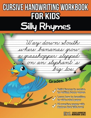 Cursive Handwriting Workbook for Kids: Silly Rhymes ()