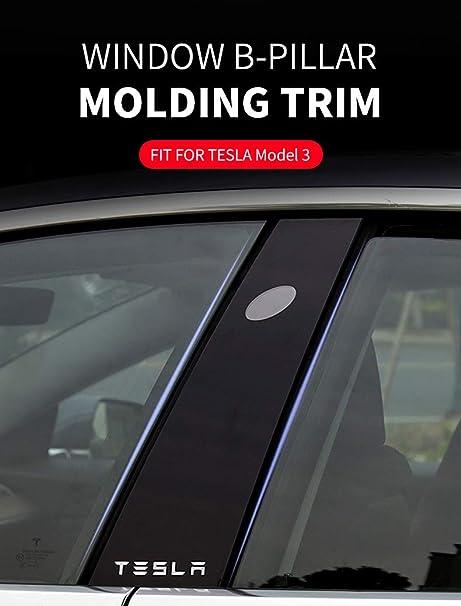 Amazoncom Model 3 Car Window B Pillar Molding Trim Window