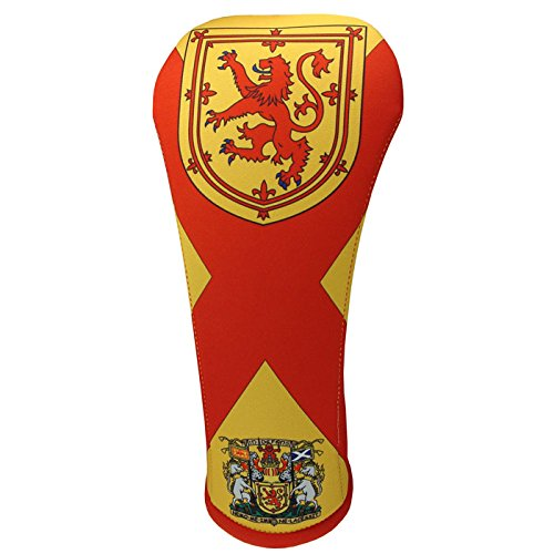 Lion Rampant Design (Lion Rampant flag thyme golf club head covers available in 3 sizes drive-fairway-hybrid made in USA by BeeJos (Hybrid))