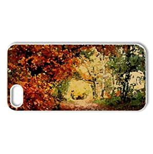 Park Fall Watercolor style Cover iPhone 5 and 5S Case (Autumn Watercolor style Cover iPhone 5 and 5S Case)