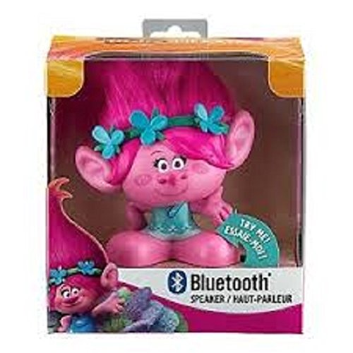 Trolls - Portable Bluetooth Speaker with Line-in Jack - Poppy Troll Character (Wi-B67PY)