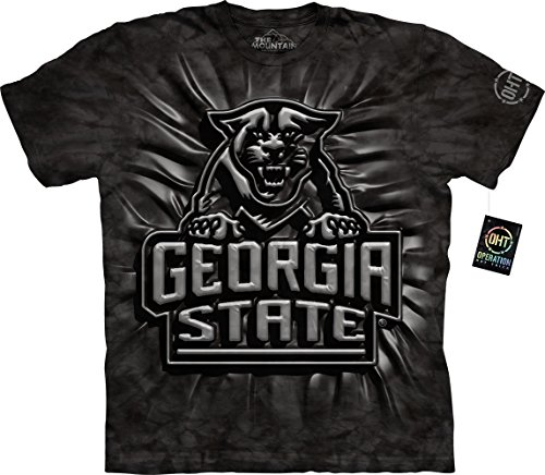Cotton Preshrunk Tees Black Ink (The Mountain Men's Georgia State U Gsu Panthers Inner Sp Adult T-Shirt, Black, 2XL)