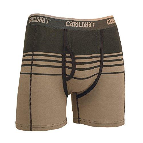 Cariloha Men's Bamboo Underwear   (Large, Shoreline Gray Stripe) - Large Mens Bamboo