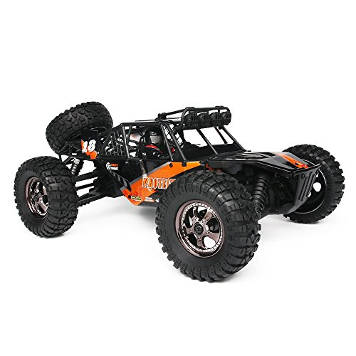 (RC Cars Protector 1/12 Scale 4WD Off-Road Buggy 38+KM/H High Speed LED Lights, 2.4 GHz Radio Controlled All Terrain Waterproof Trucks RTR Electric Power Rechargeable Batteries 7.4 V 1500 mAh)