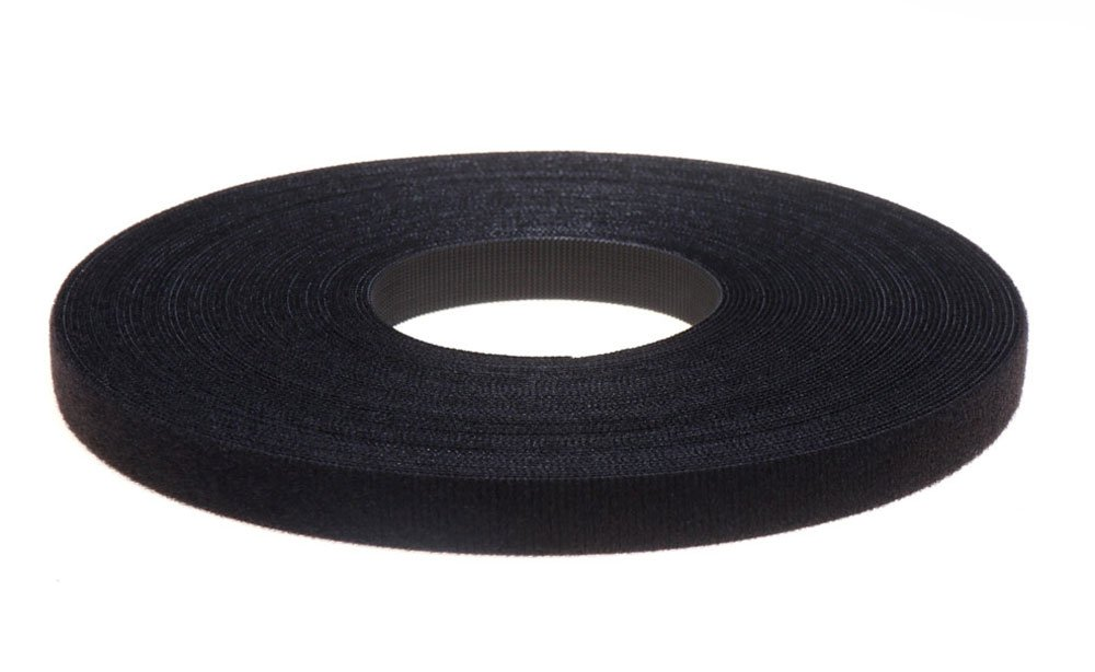 """VELCRO® BRAND ADHESIVE TAPE 1/"""" X 5 Ft Black JUST THE LOOP SIDE"""