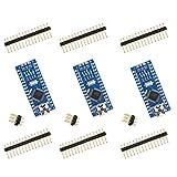 for Arduino Nano, ELEGOO Nano Board CH340/ATmega328P, Compatible with Arduino Nano V3.0 (Pack of 3 Without Mini USB Cable)