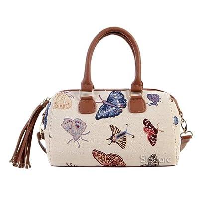 bolso vintage de hombro con mariposas