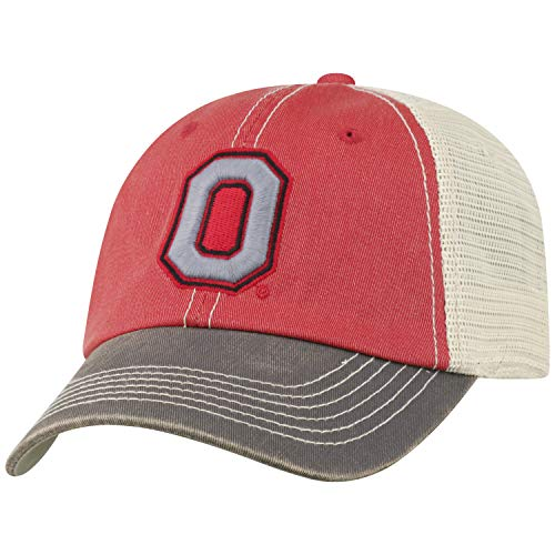 (Top of the World Ohio State Buckeyes Men's Mesh-Back Hat Icon, Red, Adjustable )