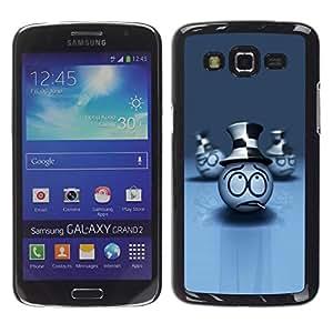 Be Good Phone Accessory // Dura Cáscara cubierta Protectora Caso Carcasa Funda de Protección para Samsung Galaxy Grand 2 SM-G7102 SM-G7105 // Smoking Face