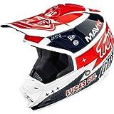 Troy Lee Designs Team SE3 MotoX Motorcycle Helmet - White (Carbon Fiber) / Large