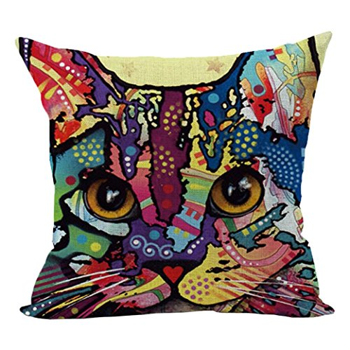 Cat Bed Cover (Startview Cute Cat Sofa Bed Home Decoration Festival Pillow Case Cushion Cover (B))
