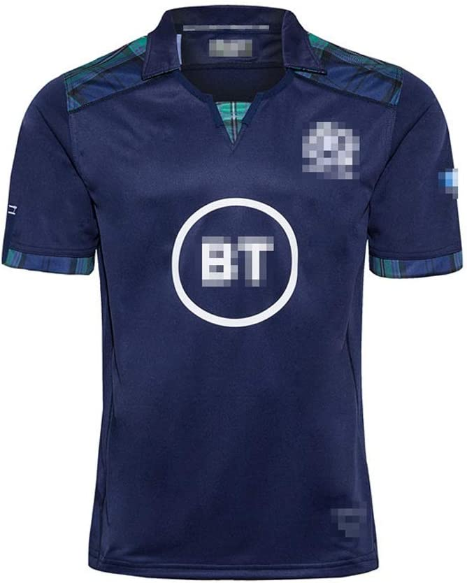 Rugby Fans Casual Sports Rugby Uniform GXHLLYZY 2020 Scotland Home Rugby Jersey Size : 5xl