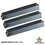 Direct store Parts DP105 (3-pack) Porcelain Steel Heat plates Replacement CharGriller 3001,3008,3030,4000,5050,5252; King Griller 3008,5252 Gas Grill (Porcelain Steel heat plates)