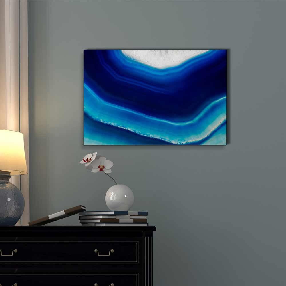 Canvas Wall Art wall26 Giclee Print Gallery Wrap Modern Home Decor Ready to Hang 12 x 18 Abstract Agate Slice Pattern