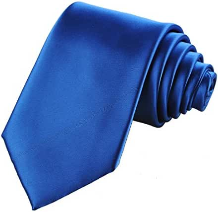 KissTies Mens Solid Satin Tie Pure Color Necktie Wedding Ties + Gift Box