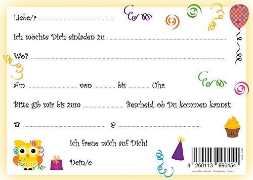 Schön 8 Er Set Lustige Eulen Einladungskarten (10645) Zum Kindergeburtstag Oder  Zur Party Von EDITION COLIBRI ©   Umweltfreundlich, Da Klimaneutral  Gedruckt: ...