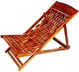 Wooden Carved Garden/Lawn Easy Foldable Chair by Global Arts