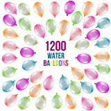 Prextex 1200 Water Balloons Bulk Balloons Pack for Water Sports Fun, Splash Fights for Pools and Outdoors, Summer Outdoor Water Games and Party Favors