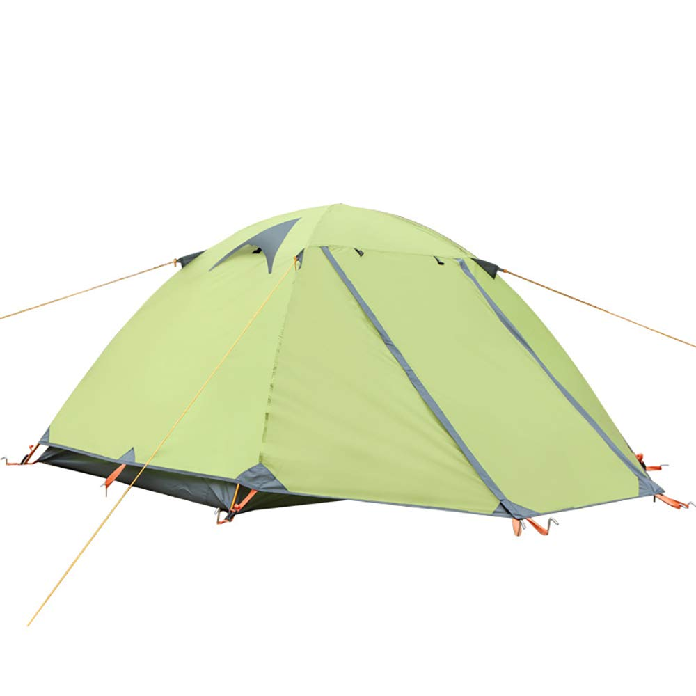 SMILINGGIRL Tente De Camping en Plein Air,Tente De Loisir Imperméable Double Couche,Double Couple- Léger, Anti-Insectes, Ventilé vert -