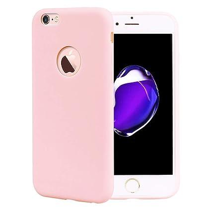 CoqueCase Funda iPhone 6s Silicona Suave Flexible Antigolpes Ultrafina Goma Case Ultra Delgado Caso Color Cubierta Protector Bumper Case para Teléfono ...
