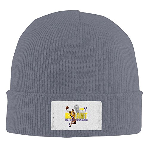 [Amone Kobe Basketball Winter Knitting Wool Warm Hat Asphalt] (Wicked Musical Costumes Sale)
