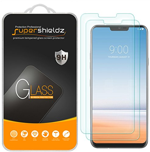 [2-Pack] Supershieldz for LG G7 ThinQ Tempered Glass Screen Protector, Anti-Scratch, Bubble Free, Lifetime Replacement Warranty