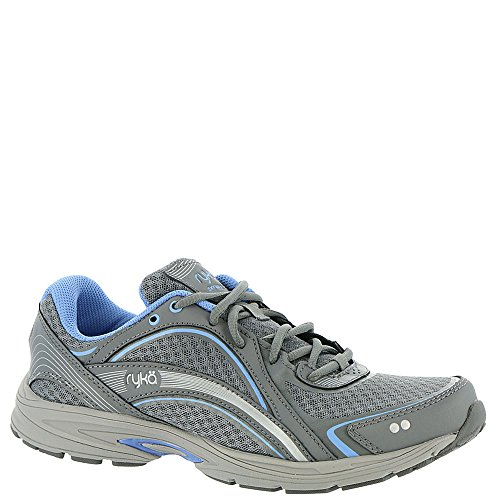 RYKA SKY WALK Walking Shoe, Slate Grey/Chrome Silver/Robin Blue, 9 M US