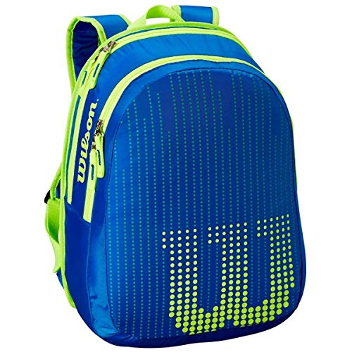 Wilson Ultra Team 25 Inch Junior Tennis Racquet Set or Kit Bundled with a Neptune Blue/Solar Lime Kid's Tennis Backpack and a Can of Tennis Balls by Generic (Image #1)