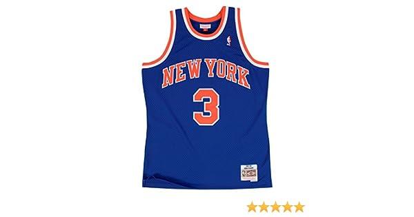 release date: 10930 98817 Mitchell & Ness John Starks 1991-92 New York Knicks HWC Blue Swingman Jersey