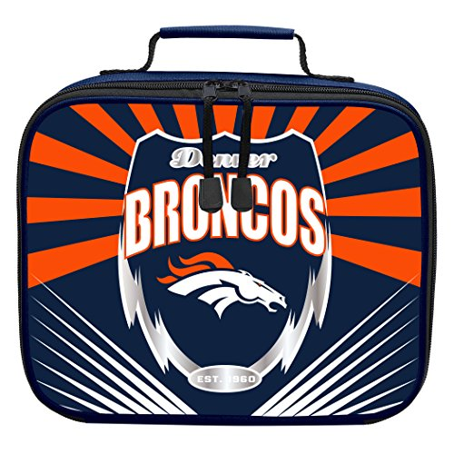 The Northwest Company Officially Licensed NFL Denver Broncos Lightning Kids Lunch Kit, Blue