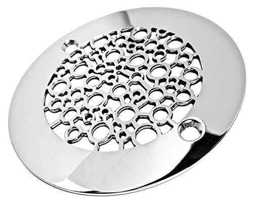 Designer Drains Brushed/ Satin Nickel Classic Motif 7 Square Decorative Shower Drain Cover Grate cheap