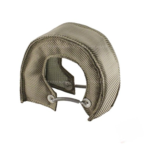 B B Bullet Exhaust (JCP Mesh Lined Titanium Turbo Blanket Heat Shield With Stainless Steel Ties (Big)