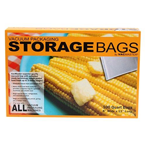 VACMASTER Full Mesh Storage Bags, Quart, 100-ct.