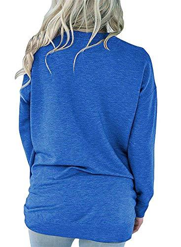 87897d2a9a83c1 RJXDLT Women's Casual Long Sleeve Shirt Loose Soft Pockets Pullover Blouse  Tops Tunics