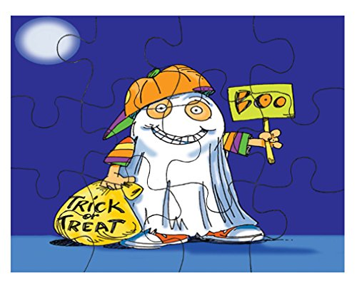 Style in Print Boy Costume Of Ghost Halloween Picture Jigsaw Puzzle Print 30 (Halloween Jigsaw Puzzles To Print)