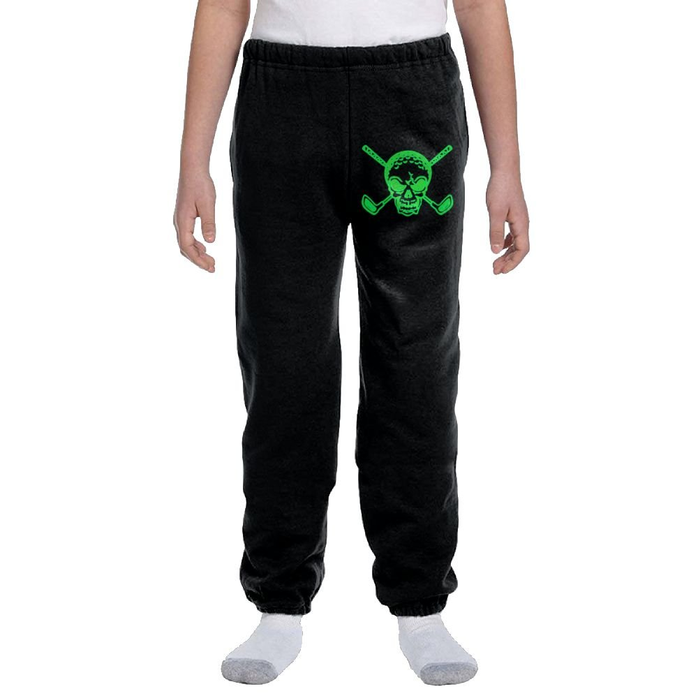 Golf Skull Youth Activewear Suitable Joggers Sweatpants by Ogente