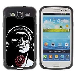 Suave TPU GEL Carcasa Funda Silicona Blando Estuche Caso de protección (para) Samsung Galaxy S3 III I9300 / CECELL Phone case / / Skull Music Headphones Red Rose /