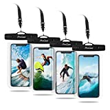 ProCase Universal Waterproof Cellphone Pouch Dry Bag Underwater Case for iPhone 11 Pro Max Xs Max XR X 8 7 6S Plus, Galaxy S10+ S10e S9 S8 + /Note 10 10+ 5G 9 8, Pixel 3a XL up to 6.8' - 4 Pack, Clear