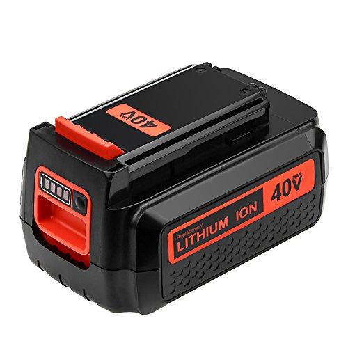 Dosctt 40 Volt Max 2500mAh LBX2040 Replace for Black and Decker 40V Lithium Battery LBXR36 LBXR2036 LST540 LCS1240 LBX1540 LST136W Series Cordless Power Tool