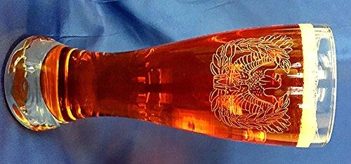 US Army Warrant Officer emblem custom etched on 23oz pilsner set of 4