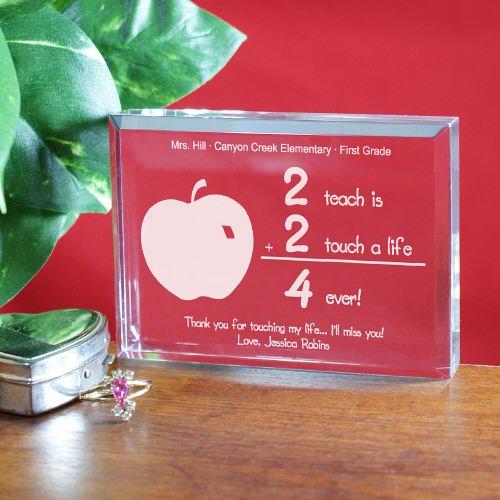 (GiftsForYouNow 2 Touch A Life 4-Ever Teacher Keepsake Paperweight, 3