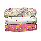 Charlie Banana 3 Diapers 6 Inserts Hybrid AIO Grab Pack, Queen, One Size