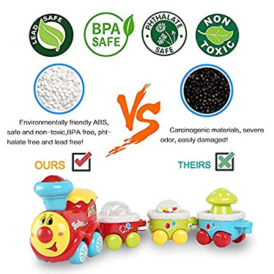 BAOLI Electric Train Track Toy Car Playset with Light and Music ,Car Toys for Kids Baby Toy Cars for 2 Year Old Toddler Early Educational Cars Toy: Toys & Games