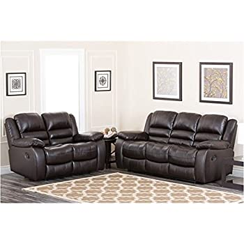 amazon com abbyson living levari reclining leather sofa and rh amazon com abbyson living chandler leather sofa abbyson living leather sofa set