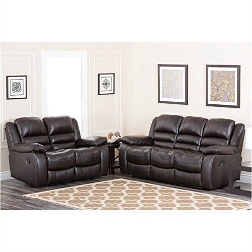 Abbyson Living Levari Reclining Leather Sofa And Loveseat -