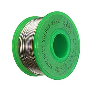 Lead Free Solder Wire 3.5oz with Rosin Core for Electrical Soldering, Sn97.5 Cu0.3 Flux2.2 1.0mm