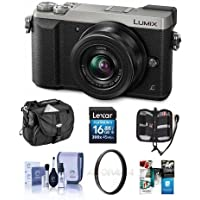 Panasonic Lumix DMC-GX85 Mirrorless Camera with Lumix G Vario 12-32mm f/3.5-5.6 ASPH Lens, Silver - Bundle with Camera Case, 16GB SDHC Card, Cleaning Kit, 37mm Filter Kit, Memory Card, Software Pack