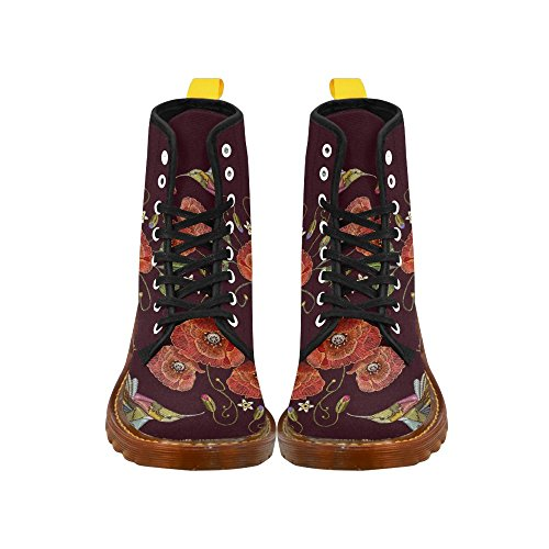 InterestPrint whale Print Lace Up Boots Fashion Shoes For Women Humming Bird 9yBgFIATyW
