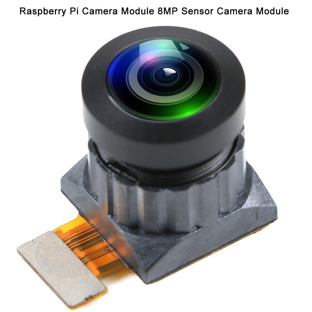 MakerHawk Module de camé ra Raspberry Pi Module de camé ra de capteur 8 mé gapixels Grand angle 160 degré s FoV compatible avec la carte de camé ra Raspberry Pi V2 Prise en charge de la ré solution des enregistreme