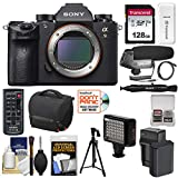 Cheap Sony Alpha A9 Wi-Fi 4K Digital Camera Body with 128GB Card + Battery & Charger + Case + Tripod + Remote + LED Video Light & Flash + Microphone + Kit